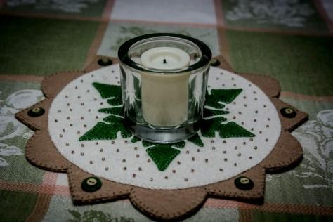 Candle Mat Tan