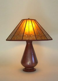 Hand-Hammered Recycled Copper Table Lamp, Windowpane ...