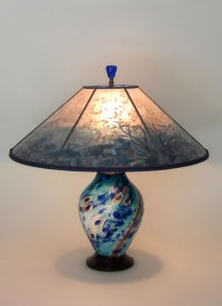 Under the Sea Art Glass Table Lamp and Lamp Shade | Sue ...
