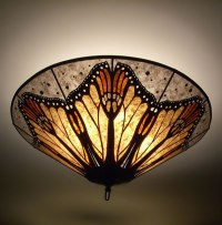 Monarch Butterfly Wings Mica Ceiling Lamp - Sue Johnson