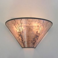Mica Wall Sconce with Heron Design adapted from Heintz ...