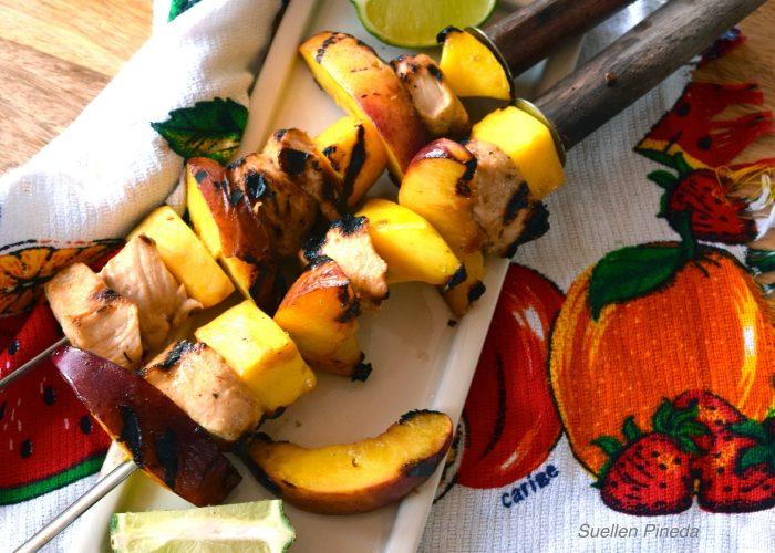 Chicken and Mango Kabobs
