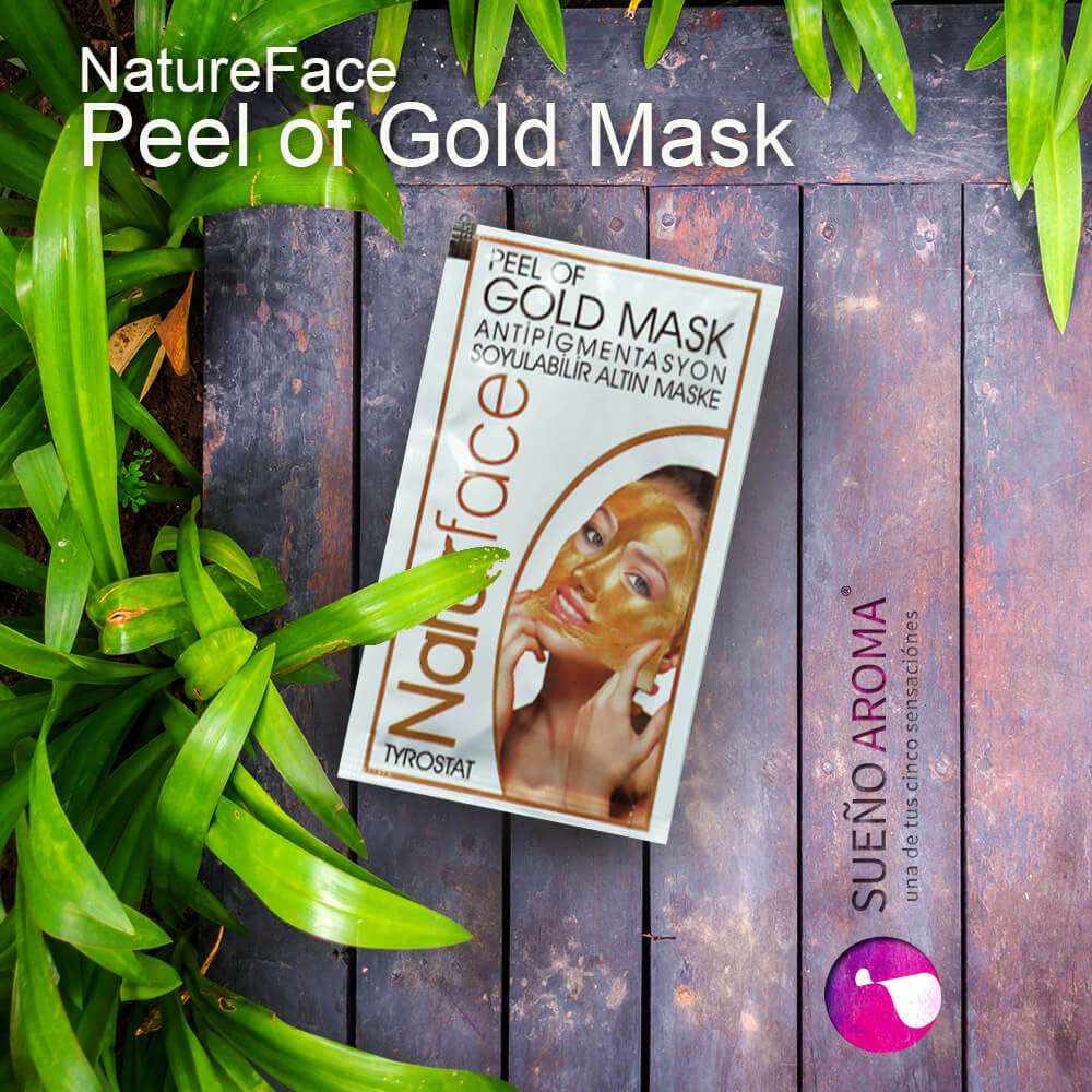 nature face gold mask
