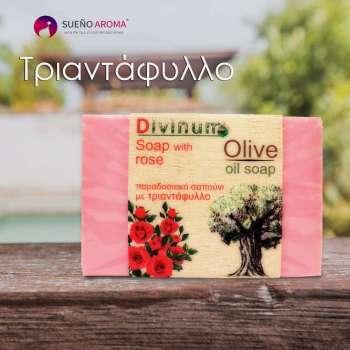 handmade soap rose olive oil divinum