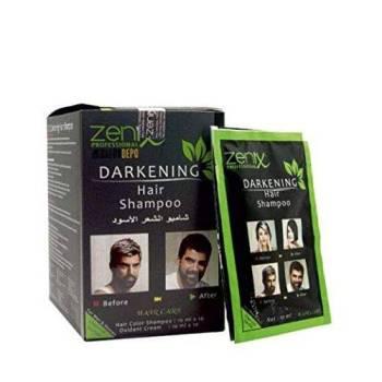 Zenix Darkening Hair Shampoo Κάλυψη Λευκών Τριχών Φακελάκι 20ml