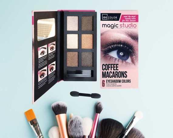 Idc Color Παλέτα σκιών Coffee Macarons (6col)