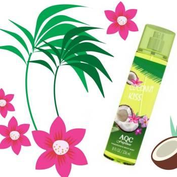 Body Mist 236ml Spray Coconut Kiss - AQC fragrances