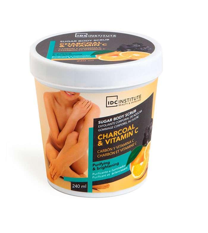 Sugar Body Scrub IDC Charcoal & Vitamin C 240ml