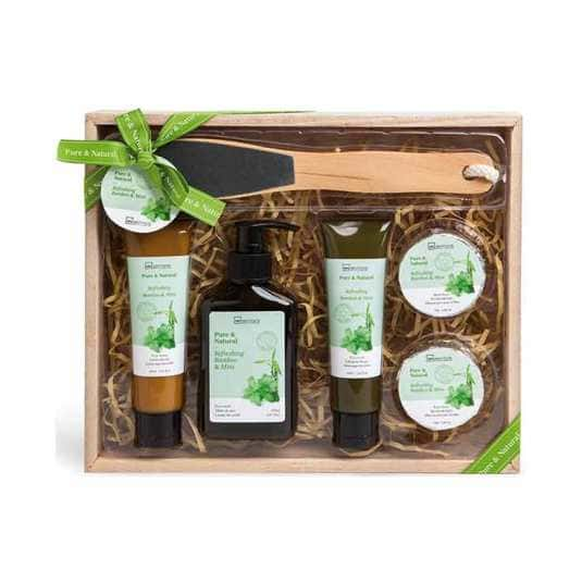 IDC Pure & Natural Foot Giftset Bamboo – Mint