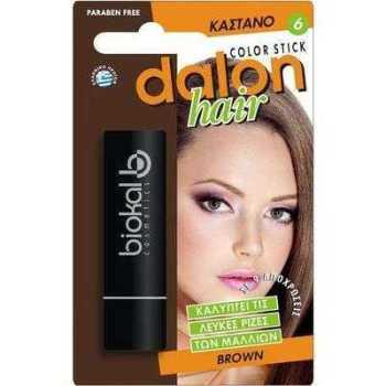 Dalon Hair Color Stick Brown Στικ Κάλυψης Λευκών Καστανό