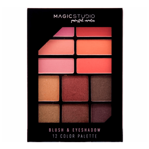 Παλέτα Μακιγιάζ Blush & Εyeshadow 12 Colors Magic Studio IDC