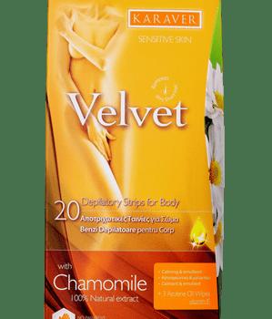 Karaver Velvet Chamomile 20 Ταινίες Αποτρίχωσης Σώματος