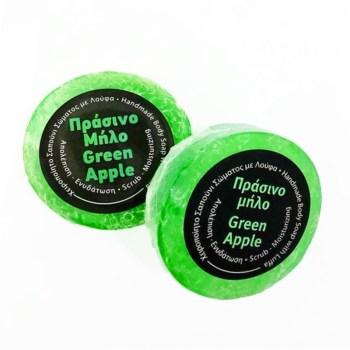 Focus Thrace Cosmetics Χειροποίητο Σαπούνι με Λούφα 100gr Πράσινο Μήλο