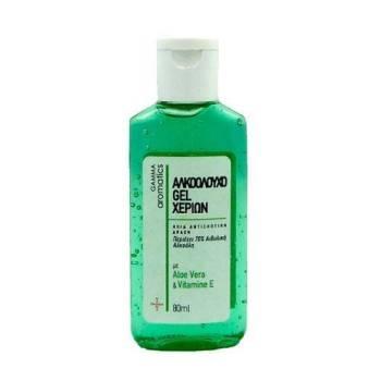 Gamma Aromatics Αλκοολούχο Gel Χεριών με Αλόη 70% Αλκοόλη 80ml