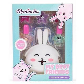 Martinelia My Best Friends Σετ Lip Gloss 3*2gr Βερνίκια 2* 4ml & Πορτοφολάκι Κουνελάκι 15gr