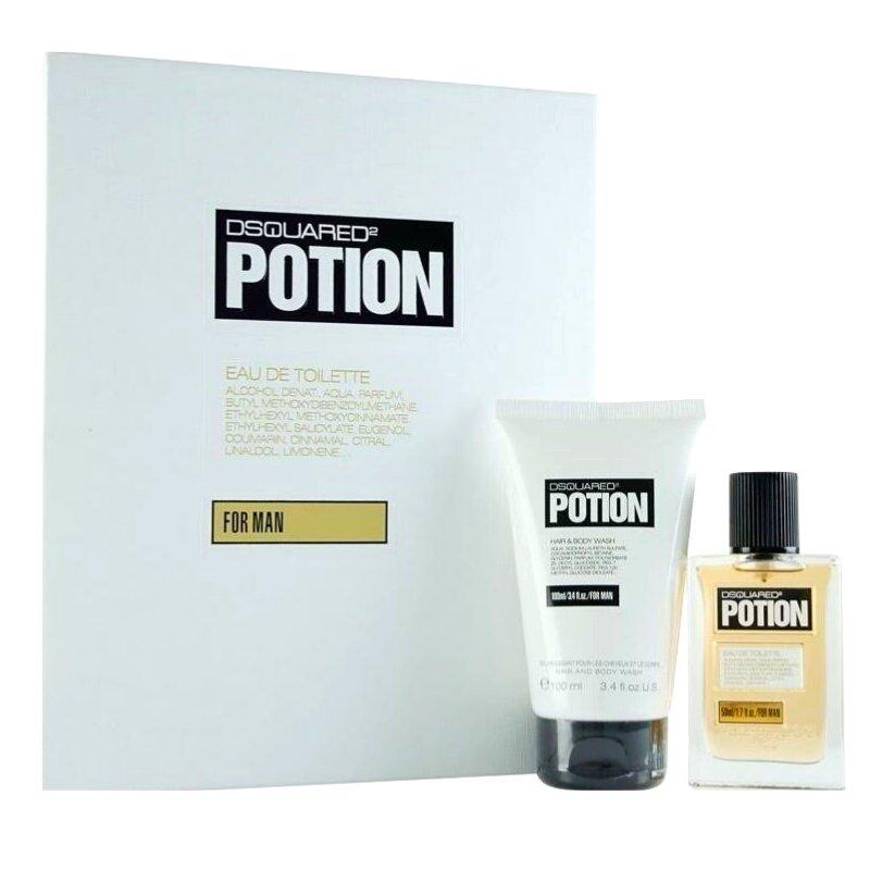 Dsquared Potion Men Giftset Άρωμα EDT 50ml Hair & Body Wash 100ml