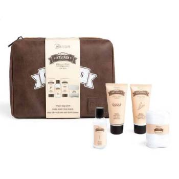 IDC Gentlements Giftset Body Wash 100ml After Shave Balm 100ml Face Wash 120ml & Face Towel