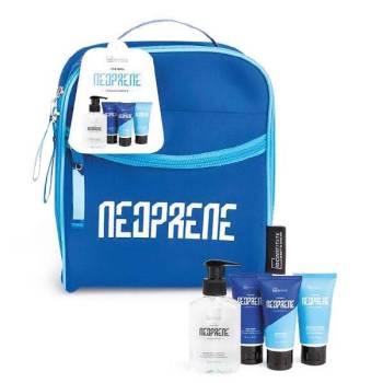 IDC Neoprene Blue Men's Gift Set Body Wash & Shampoo 160ml Face Wash 60ml Shaving Gel 60ml face Wash 60ml