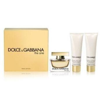 DOLCE & GABANA Σετ Δώρου Γυναικείο The one Άρωμα 75ml Eau De Parfum Spray + 50ml Body Lotion + 50ml Shower Gel