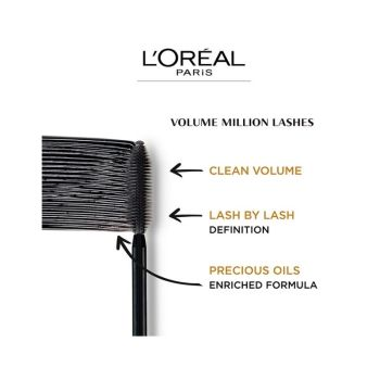 L'Oreal Volume Million Lashes Black Mascara 10.5ml