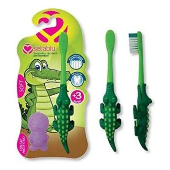 Setablu Παιδική Οδοντόβουρτσα Κροκόδειλος με καπάκι Soft 20gr
