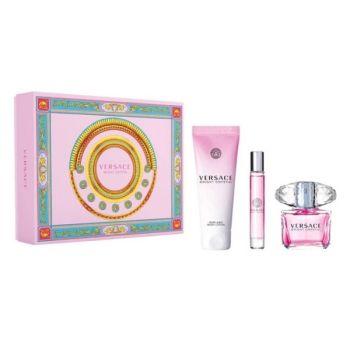 Versace Bright Crystal Σετ Δώρου Γυναικείο Άρωμα 90ml EDT Spray + Shower Gel 150ml+ Άρωμα EDT 10ml