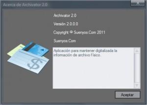Acerca de Archivator 2.0