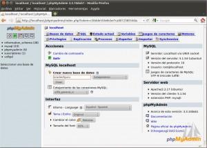 crear base de datos MySQL