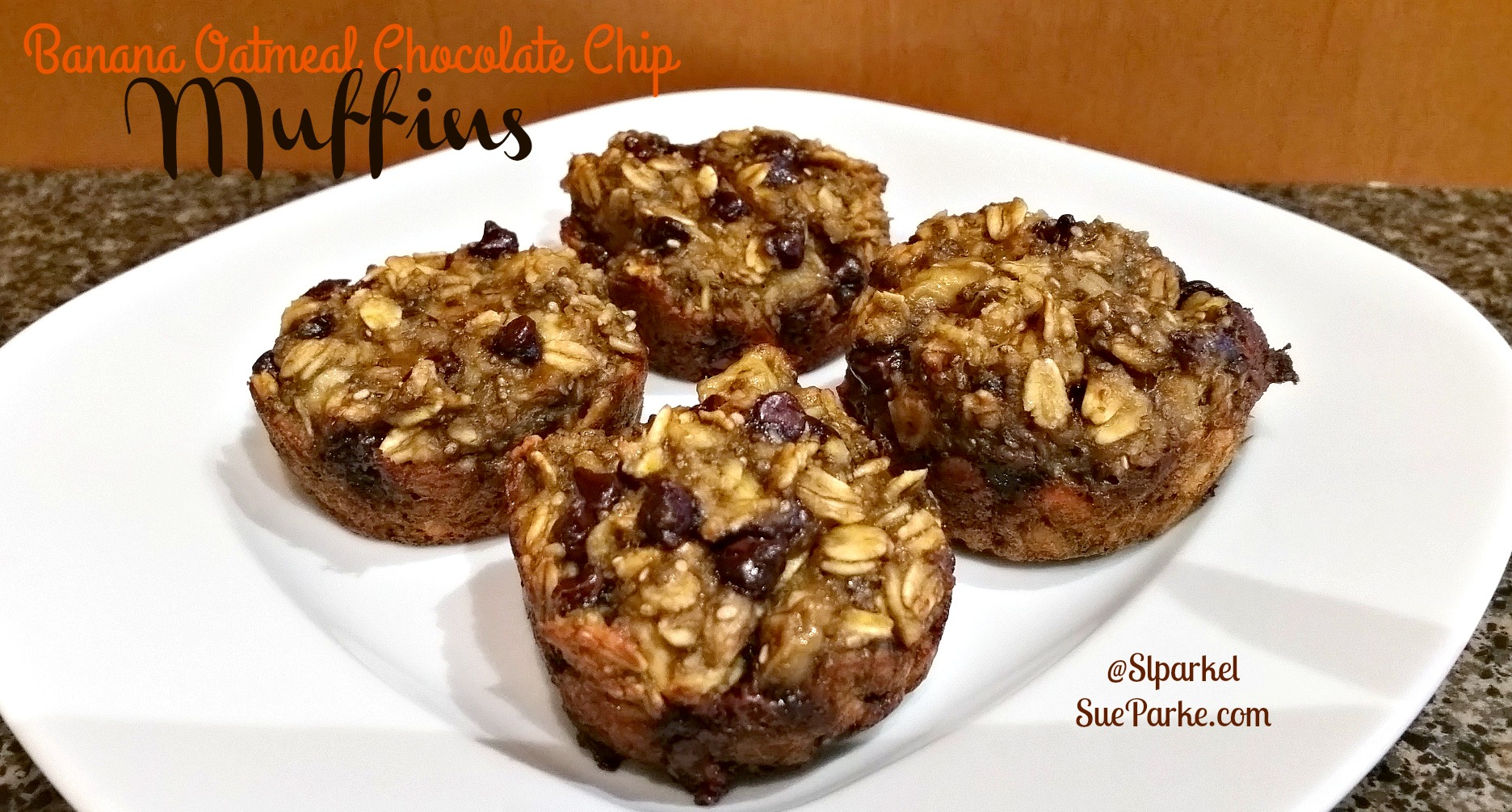 Banana Oatmeal Chocolate Chip Muffins - Sparke Fitness