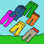 A flock of pants cartoon(1)