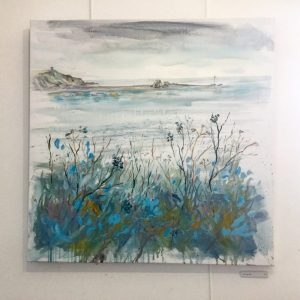 blue and grey painting of bude
