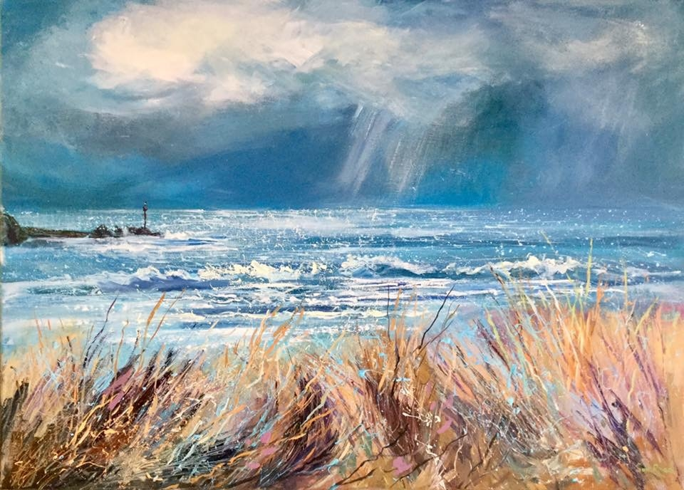 Summerleaze beach bude painting