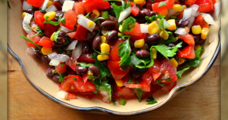Zesty Low Sodium Black Bean Corn and Mango Salsa