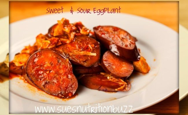 Eggplant Roasted and Smeared with Sweet & Sour Sauce