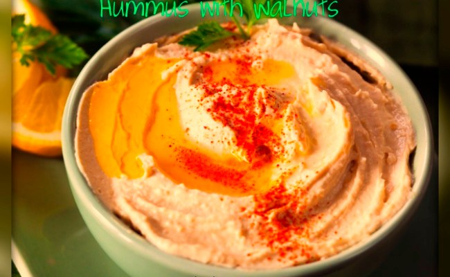 Heart Healthy Hummus with Walnuts & Sesame Seeds