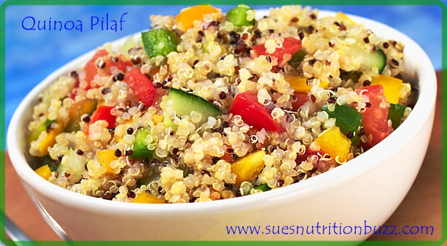 Quick & Easy Quinoa Pilaf with Coconut #HighFiber