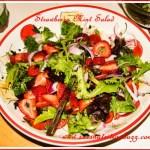 Wild Arugula Strawberry Red Onion Mint Salad