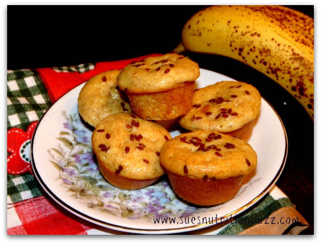 High Protein Banana Oat Ricotta Muffins With Flaxseed