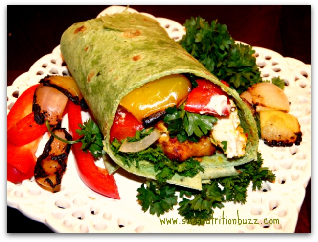 Chicken Kebab Wrap With Grilled Veggies Tahini Sauce Sundaysupper Sue S Nutrition Buzz