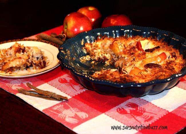 Paleo Friendly Light Apple Date Coconut Crisp #GlutenFree #Vegan