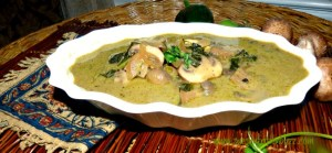 Thai Green Curry with Mushrooms & Coconut Water