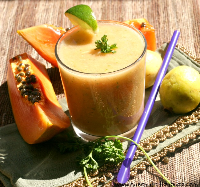 Tropical Super Fruit Guava Papaya Smoothie Loaded With Digestive Enzymes