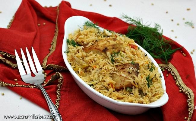 Lightened Up Fish Biryani With Fresh Dill #SundaySupper