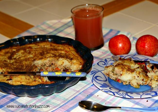 Spiced Up Turkey Shepherd's Pie With Cauliflower Crust For #WeekdaySupper
