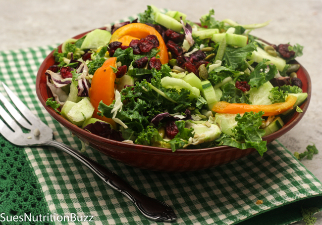 Sweet Kale Salad With Coconut Cream Poppy Seed Dressing