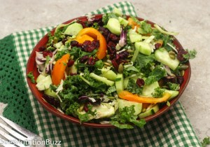 Sweet Kale Salad With Poppy Seed Dressing