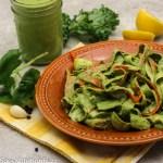 Black Walnut Kale Pesto with Zucchini Fettuccine