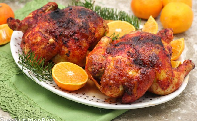 Ginger Orange Glazed Cornish Hens #SundaySupper