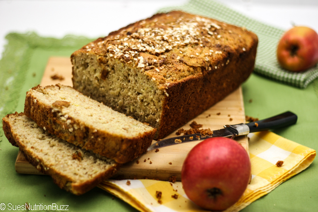 Apple Flax Zucchini Bread #GlutenFree #SundaySupper