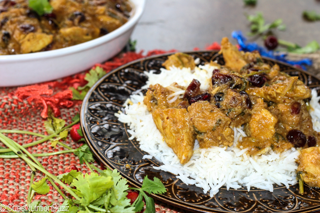 Hot N Sweet Cranberry Curry Chicken #WeekdaySupper